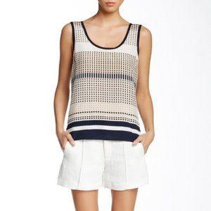 Vince Pintuck Jacquard Textured Shorts